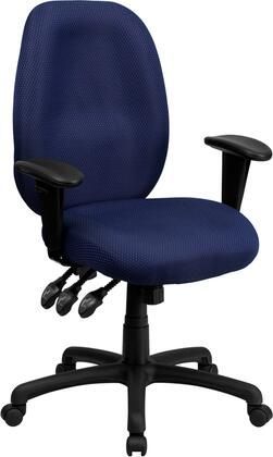 BT-6191H-NY-GG High Back Navy Fabric Multi-Functional Ergonomic Task Chair with