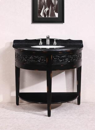 WH2941 41 Solid Wood Sink Vanity With Granite Top-No Faucet and Backsplash in Antique