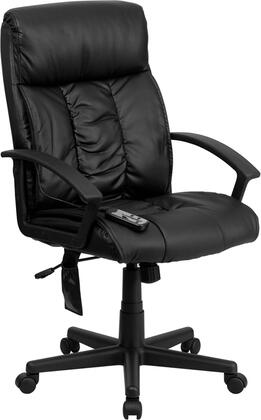 BT-9578P-GG High Back Massaging Black Leather Executive Office