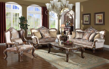 Sandro Collection 6033PCSTLARMKIT1 3-Piece Living Room Sets with Stationary Sofa  Loveseat and Living Room Chair in Light