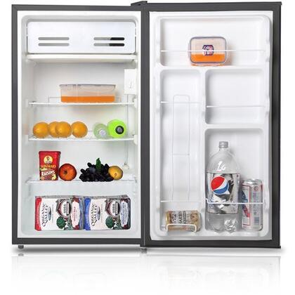 WHS-121L 3.3CF Compact Single Reversible Door Refrigerator with Convenient Racks  Separate Chiller Compartment and Mechanical