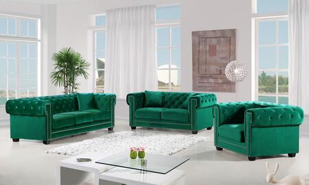 Bowery Collection 739505 3-Piece Living Room Sets with Stationary Sofa  Loveseat and Living Room Chair in