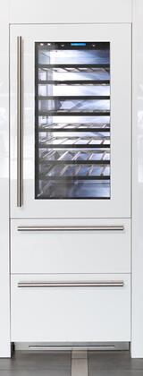 FI30BDW-RGO 30 inch  Integrated Series Built-in Wine Cellar with 72 Bottle Capacity  5.5 cu. ft. Total Refrigerator Capacity  Riserva  TriMode  9 Wooden Shelves and