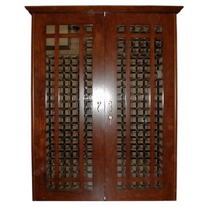 VINO-700GRID-HRM Oak Wine Cooler Cabinet  Honey Rubbed