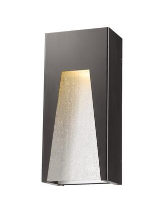 Millenial 561M-DBZ-SL-SDY-LED 6 1 Light Outdoor Wall Light Contemporary  Metropolitan  Modernhave Aluminum Frame with Bronze Silver finish in Clear