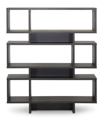 Baxton Studio FP-6DS-Shelf (3A) Cassidy Modern Bookshelf with 6-Levels  Engineered Wood Frame and Faux Wood Grain Paper Veneer in Dark