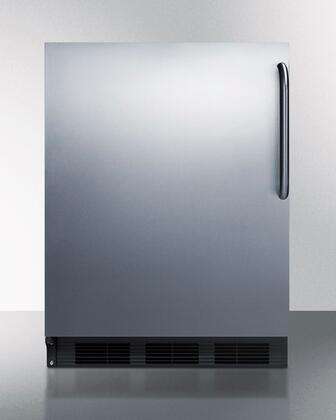 BI541BSSTBLHD 24 inch  Dual Evaporator Undercounter Compact Refrigerator with 5.1 cu. ft. Capacity  2 Adjustable Glass Shelves  Cycle Defrost  and Adjustable