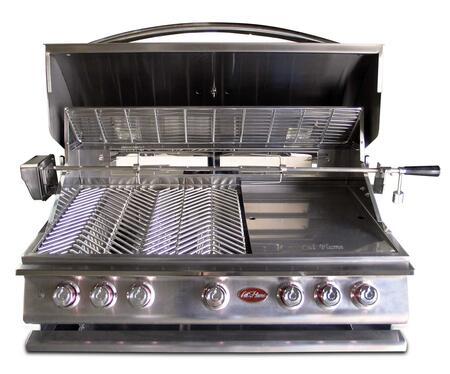 BBQ13P05 P5 P-Series Built-In 5 Burner Liquid Propane Grill with 75 000 BTUs of Heat  1000 sq. in. Cooking Surface  Lights  Rotisserie  and Thermometer  in 356704