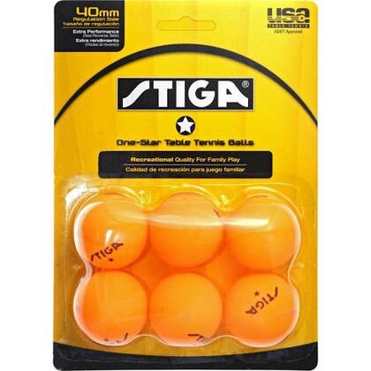 T1413 Recreational Quality Family Play Tennis Table 6-Pack One-Star Orange