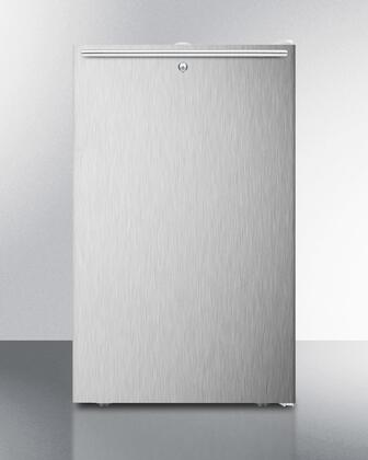 FS407L7SSHH Commercially listed 20 inch  wide counter height Compact freestanding all-freezer  -20  C capable with a lock  stainless steel door  horizontal handle