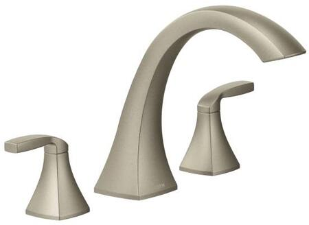 T693BN Voss 2-Handle High Arc Roman Tub Faucet  in Brushed