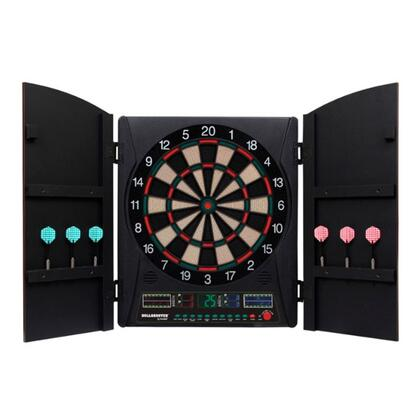 EDBW660 Maurader 5.0 Dartboard Cabinet and E-Bristle 13.5 inch  Board Set with Six Soft Tip Darts  Extra Tips  and AC