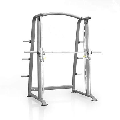 E-3893 Titanium Series 7001 Smith Machine with Industrial Grade Bearings  Heavy Duty Bar and Olympic Plate Storage Racks in
