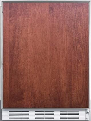 FF6BIFRADA 24 inch  ADA Compliant Compact Refrigerator with 5.5 cu. ft. Capacity  Adjustable Shelves  Crisper  Door Storage and Interior Lighting: Panel Ready with