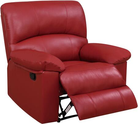 U99270-RED-RECLINER 40 inch  Recliner with Plush Padded Arms and Split Back Cushion in