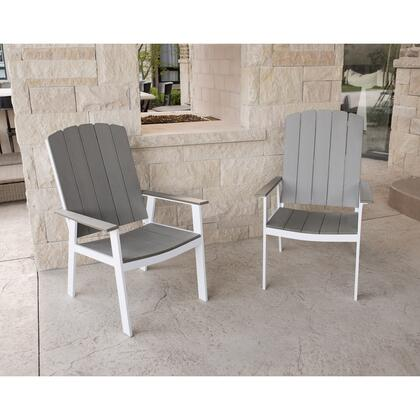 OCST2CHWG Coastal Outdoor Dining Chairs  Set of 2 in
