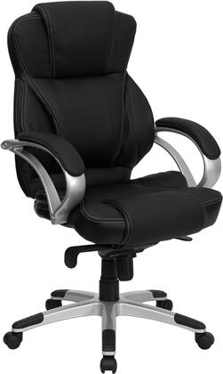 H-9626L-2-GG High Back Black Leather Contemporary Office