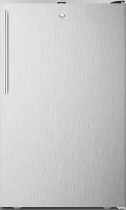 FS408BLXSSHV 20 inch  Upright Freezer with 2.8 cu. ft. Capacity  Pull-Out Drawers  Adjustable Thermostat and Flat Door Liner  in Stainless Steel with Vertical