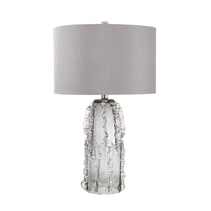 D2917 Palais 1 Light Table Lamp in Grey Smoke