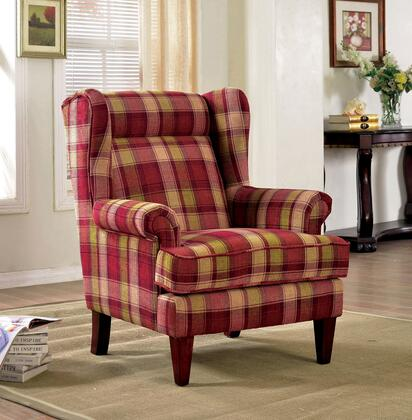 Nevaeh CM-AC6180RD Accent Chair  with Optional Ottoman  Optional Ottoman  Optional Ottoman  Optional Ottoman in