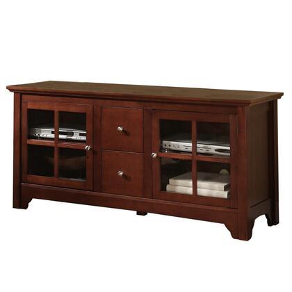W52C2DWBL 52 Black Wood TV Stand