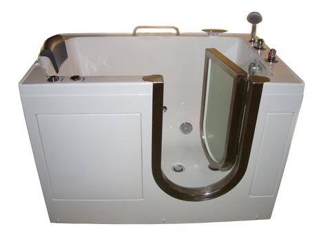 MG301 Series G301-32W Niagara Deluxe 52 inch  x 32 inch  Inward Open Heated Whirlpool System with Hand Held Shower and ADA Compliant Extra Wide Molded Seat: Water