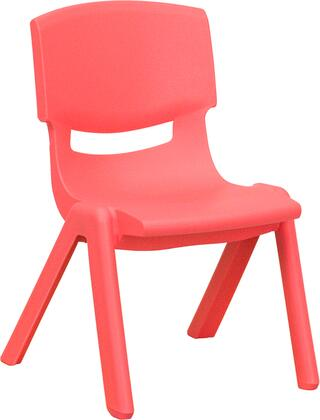 YU-YCX-003-RED-GG Red Plastic Stackable School Chair with 10.5'' Seat