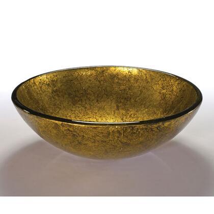 V88 Wells V88 16.5 inch Metallic Gold Mine Glass Vessel