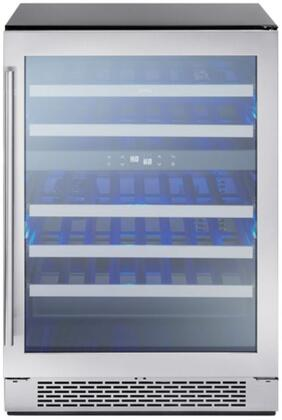 Zephr PRW24C02AG 24 Inch Built-In and Freestanding Dual Zone Wine Cooler with 46 Bottle Capacity