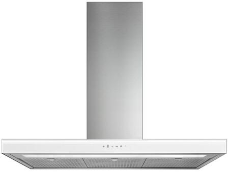 IS36LEOLAWHT 36 inch  Leola Black Island Range Hood with Touch Sensitive Controls  Fluorescent Lighting  Quiet Blower  Ducted/Ductless  UL & CSA Listed  in
