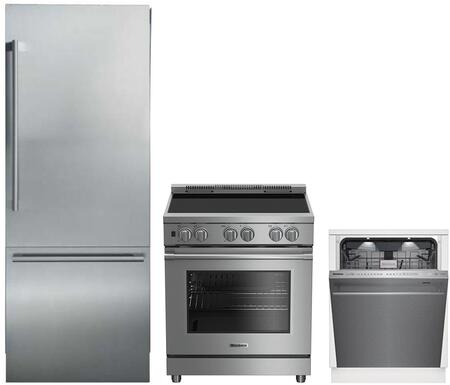 3-Piece Kitchen Package with BRFB1920SS 30 inch  Bottom Freezer Refrigerator  BIRP34450SS 30 inch  Slide In Electric Range  and a free DWT59500SS 24 inch  Built In Fully