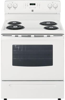 92562 30 Electric Range with 4 Coil Elements  5.3 cu. ft. Oven Capacity  Storage Drawer and Self-Cleaning Oven in