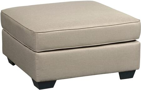 "Calicho Collection 9120308 37"""" Oversized Ottoman with  Fabric Upholstery and Welt Cords in Ecru"" 786653"