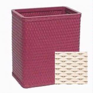 S426CR Chelsea Collection Decorator Color Square Wicker Wastebasket in