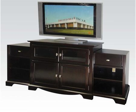 91084 Lamesha 76 inch  TV Stand with Build In Side Cabinets