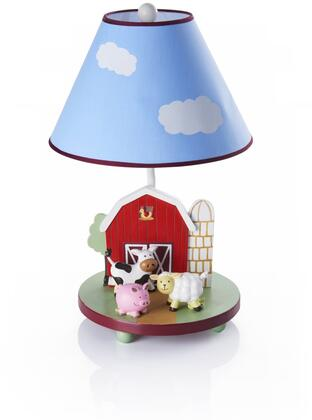 Farm Friends G86707 19 inch  Table Lamp with On and Off Switch  Hand Painted and Farm Themed in Multi