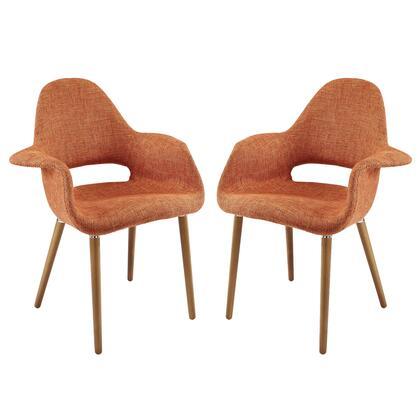 Aegis Dining Armchair Set of 2 in Orange EEI-1329-ORA