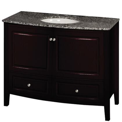YVEC-056MA 35.5 inch  Freestanding Wood Vanity with Black and White Marble Top  Single White Ceramic Oval Shaped Undermount Sink  2 cabinets and 2 drawers in