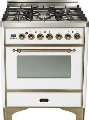 "UM-76-DMP-B-Y 30"""" Majestic Series Freestanding Dual Fuel Range with 5 Sealed Burners  3.0 cu. ft. Primary Oven Capacity  Convection Oven  Warming Drawer  Oiled"" 330288"