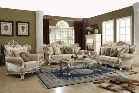 Bently Collection 506605S 5 PC Living Room Set with Sofa  Loveseat  Chair  Coffee Table and End Table in Champagne