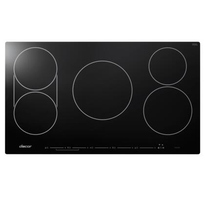"DYTT365NB 36"" Discover Series TouchTop Induction Cooktop with 5 Elements  SenseTech Induction Technology  Hot Zone Warning  Power Boost  and Child Lock:"