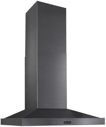 EW5436BLS 36 inch  Chimney Range Hood with 500 CFM  Dual Halogen Lighting  Mesh Filter Dishwasher Safe  and Damper in Black Stainless