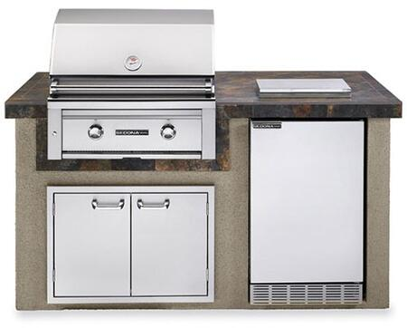 L1500C-LP Sedona Series Outdoor Kitchen Island Package with 30