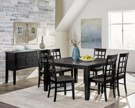 Salem D811-CT-6SCSV 8-Piece Dining Room Set with Counter Height Table  6 Side Chairs and Server in Grey and