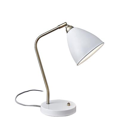 3463-02 Chelsea Desk Lamp  Painted Brass/White