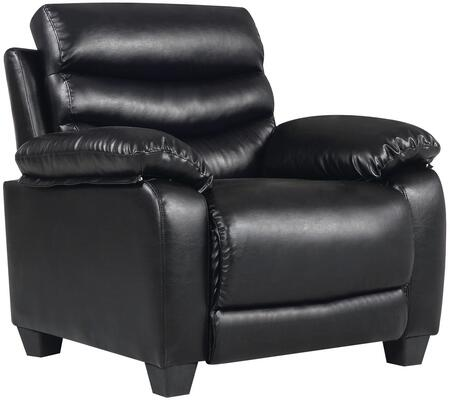 G561-c 37 Armchair With Removable Back  Split Back Cushion  Tapered Block Legs  Pub Back  Plush Padded Arms And Faux Leather Upholstery In Black