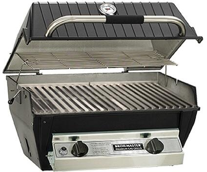 R3B Liquid Propane Infrared Combination Gas Grill with 1 20 000 BTU's Infrared Burner and 1 18-20 000 BTU's Blue Flame