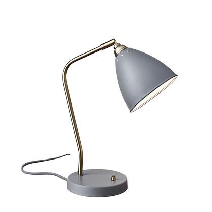 3463-03 Chelsea Desk Lamp  Painted Brass/Grey