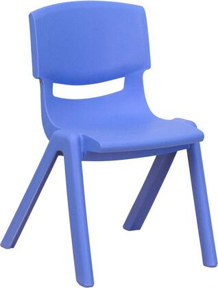 YU-YCX-001-BLUE-GG Blue Plastic Stackable School Chair with 12'' Seat