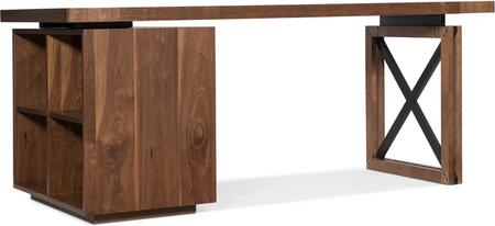 1650-10052-MWD-BC 2-Piece Desk Set with Desk and Bookcase in Medium